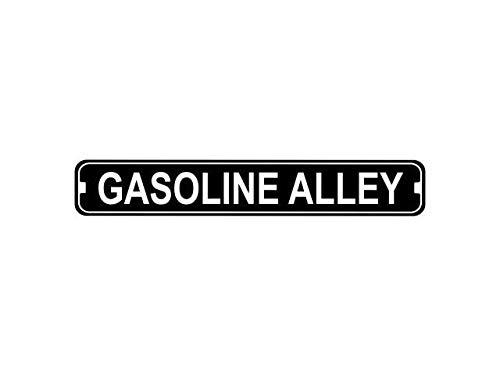 Fhdang Decor Gasoline Alley Fantaisie Plaque de Rue en métal, personnalisé en métal Signes, 10,2 x 45,7 cm