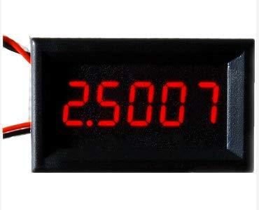 BE-TOOL Digitales Amperemeter-Messgerät, DC (0-3 A) 5-stellige Präzisions-Hochstrommessgerät, Strommessgerät, Messfeld, Messfeld, Rot/Blau/Gelb/Grün LED, rot