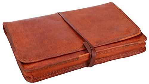 Gusti Laptoptasche 13 Zoll Leder - Christofer passend für MacBook Pro 13' Laptophülle Notebooktasche Leder Vintage Braun