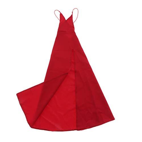 SM SunniMix 1/6 de Accin de Tela de Moda con Tirantes Finos Vestido de Noche Disfraz de Fiesta para Muecas Articuladas con Bolas