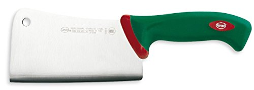 Sanelli Premana Professional Coltello Falcetta, Acciaio Inossidabile, Verde/Rosso, 29.5x3.0x9.5 cm