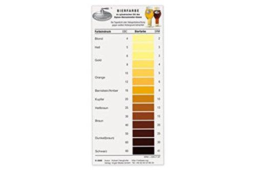 Bierfarbkarte zur Bestimmung der exakte Bierfarbe EBC nach Hanghofer