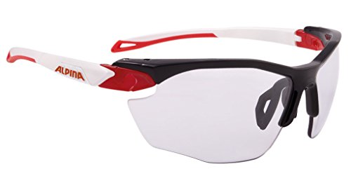 ALPINA TWIST FIVE HR VL+ Sportbrille, Unisex – Erwachsene, black-red-white, one size