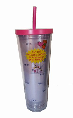 Read About Starbucks Venti Personalize Your Cup 2017 Cold Cup Tumbler 24Oz Pink With Stickers