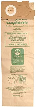 Janitized COM Wiver 4 5 Compostable Paper Premium Replacement Commercial Vacuum Bag for Windsor product image