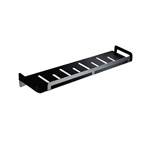 Zwarte douchecabine - 304 RVS plank keuken opslag rek badkamer Hanger gratis Punch 50cm