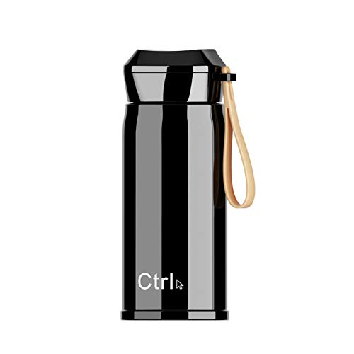 MLPNJ handbeker met touw toetsenbord roestvrijstalen mok Gift Cup paar sport draagbare drinkbeker 310Ml