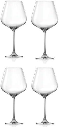 Set of 4 Over Sized Elegant Crystal Burgundy 30 oz Wine Glasses Dishwasher Safe Lightweight product image