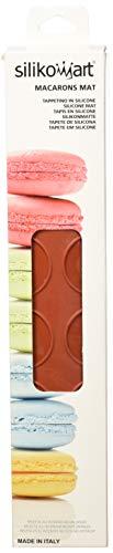 Silikomart 23.041.00.0065 Mac 01 Tapis pour Réaliser 48 Macarons Silicone 2 x 18,5 x 37 cm, Rouge Brique