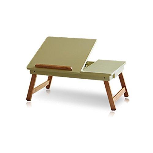 Ordinateur bureau simple lit paresseux portable table pliante Collège table étude table simple bureau (Color : Green)
