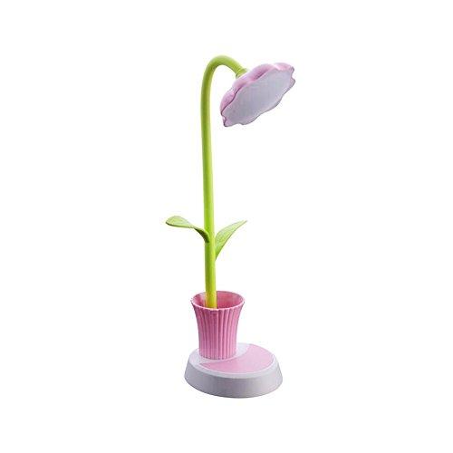 Lampada a LED da Scrivania per Bambini, Cuitan Flessibile Lampada da Tavolo USB Ricaricabile Dimmerabile Toccare Sensibile Lampadina da Lettura con Portapenne Luce Notturna per Ragazzi Ragazze (Rosa)