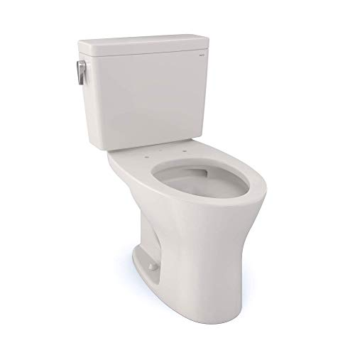 TOTO CST746CEMFG#11 Drake Two-Piece Elongated Dual Flush 1.28 and 0.8 GPF Universal Height DYNAMAX TORNADO FLUSH Toilet with CEFIONTECT, Colonial White