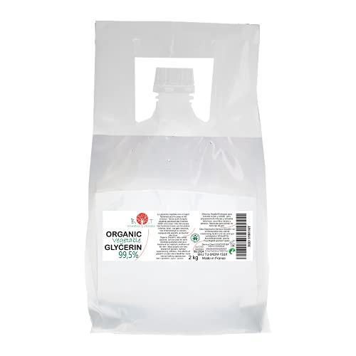 Glycérine Végétale Organique pure 99.5 % glycérol 100% végétale, Base Liquide Bio Glycerine Alimentaire garantie sans OGM, savon, 2 kg