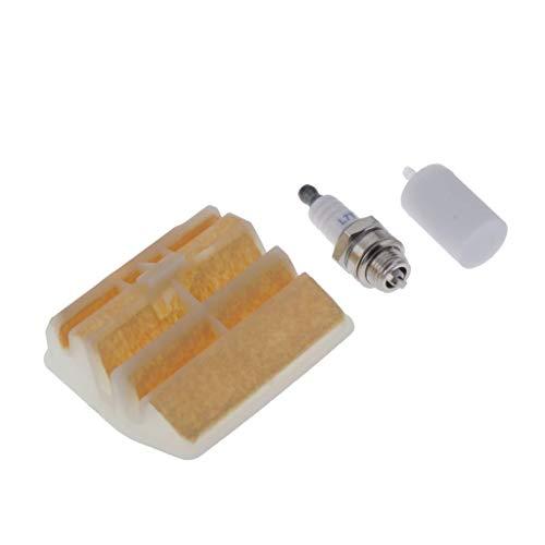 MERIGLARE Filtro de Aire con 503443201 Filtro de Combustible Bujía para Motosierra 445450