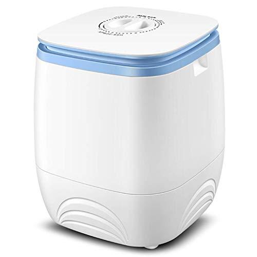 Unknow Mini Lavadora de Camping Mini bañera compacta Mini Lavadora portátil de 6.6 LB de Capacidad, semiautomática (Blanco/Rosa)