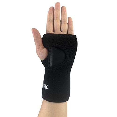 Muñequera para mano izquierda o derecha para túnel carpiano, férula de muñeca extraíble para tendinitis, soporte para el pulgar por síndrome del ratón y lesiones deportivas (1unidad), Left hand