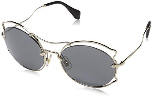 Miu Miu Damen 0Mu50Ss Zvn9K1 57 Sonnenbrille, Gold (Pale Gold/Grey)