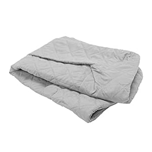 Furhaven Pet Dog Bed Cover – Quilted Traditional Sofa-Style Living Room Couch Pet Bed Replacement Cover for Dogs and Cats, Silver Gray, Medium