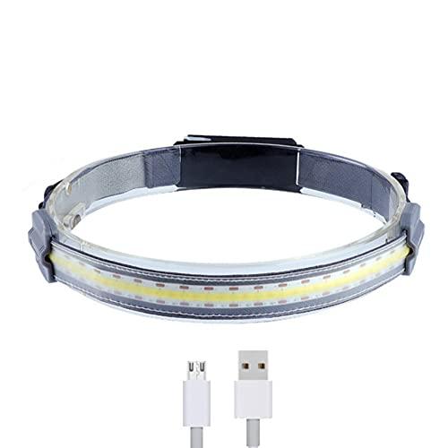 moverstar Faros LED recargables, faros de haz ancho, luz de trabajo, luz de trabajo, barra de cabeza, lámpara para exteriores, senderismo, caza, camping