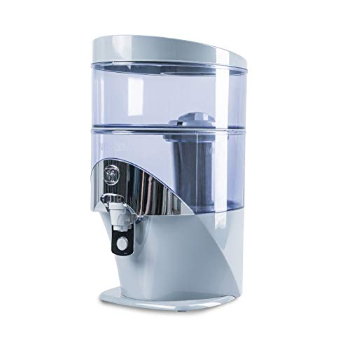 Gravity Water Filter Purifier System 1384 - Advanced Water Technology - Produces Alkaline Water - Removes Impurities and Contaminants - for Countertop