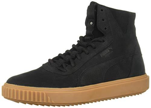 PUMA Men's Breaker Hi Sneaker, Black Black, 4 M US