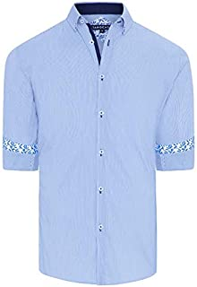 Tarocash Men's Ahern Stretch Stripe Shirt Regular Fit Long Sleeve Sizes XS-5XL for Going Out Smart Occasionwear