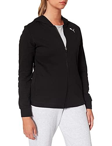 Puma Modern Sports Fullzip Hoodie Maglione, Black, L Women's