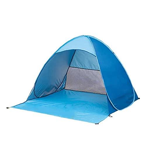Pop Up Tent Van Het Strand Opvouwbare Instant Zon Tent Voor Uv-bescherming Tegen De Zon Familie Camping Vissen Bank Van De Picknick Blue L