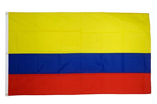 Flaggenfritze Fahne/Flagge Kolumbien - 150 x 250 cm + gratis Sticker, XXL-Fahne
