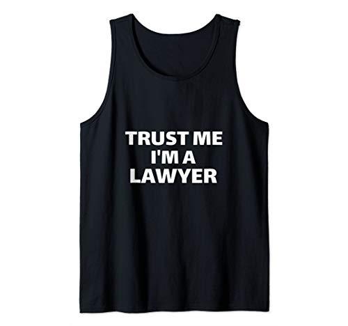 Trust Me I'm a Lawyer Funny Gift Law Student Graduate Joke Tank Top
