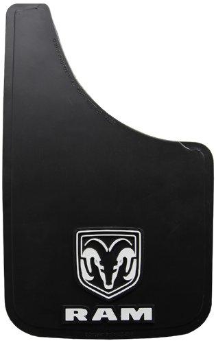 "Dodge Ram White Logo Easy Fit 15"" Mud Guard - Set of 2"
