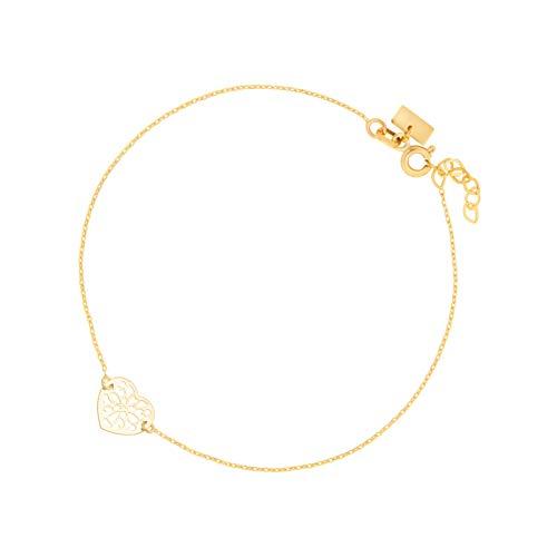 Sinez Gold Damen-Armband mit Anhänger Herz 8 Karat (333) Gelbgold