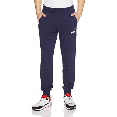 PUMA Ess Logo Pants TR cl, Pantaloni Uomo, Blu (Peacoat), S