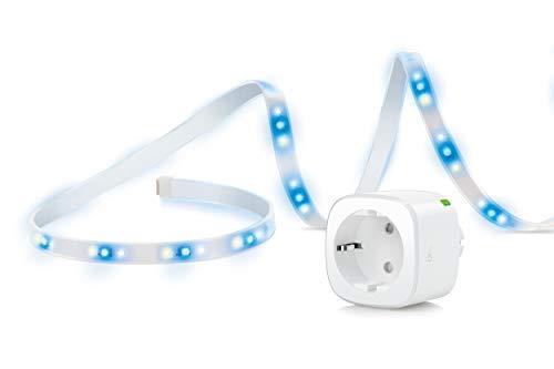 Eve Movie Night - Tira LED inteligente y enchufe inteligente con tecnología Apple HomeKit, sin necesidad de centralita
