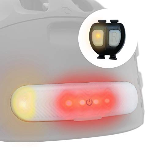 OVERADE Blinxi Removable Wireless Light for Bicycle, Scooter Helmet - with Right/Left Turn Signals - Remote Control on Handlebar - USB Rechargeable