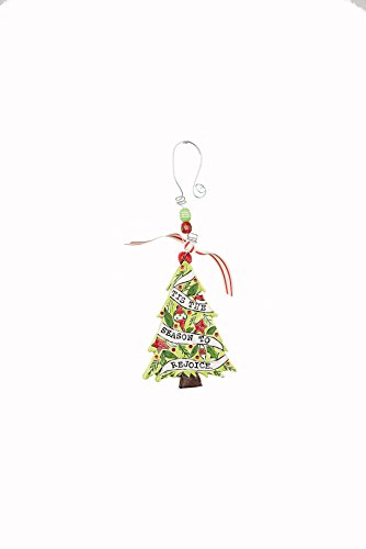 Glory Haus Tis The Season to Rejoice Tree Flat Ornament, Multicolor