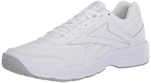 Reebok Women's Work N Cushion 4.0 Walking Shoe, White/Cold Grey/White, 9 M US
