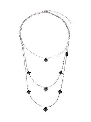 Breil Gioiello Collezione Rockers Jewels, Collana da Donna in Acciaio Colore Silver Misura 48CM - TJ2813