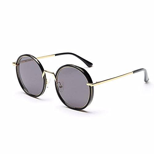 Gafas de sol unisex, de alta definición, polarizadas, redondas, grises, protección Uv400, personalidad, de moda, ligeras, para deportes al aire libre, Wayfarer