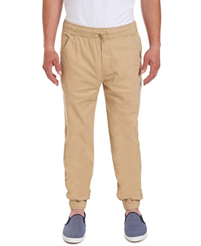 Nautica Young Men's Uniform Jogger Pant, Khaki, Large(36/38)