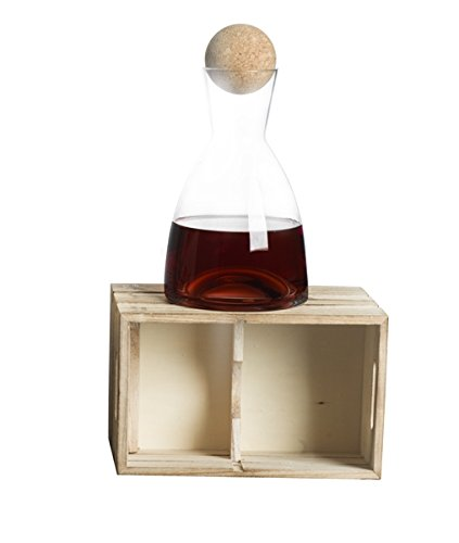 Brandani 54388 decanter etereo in vetro borosilicato con tappo in sughero 1400ml