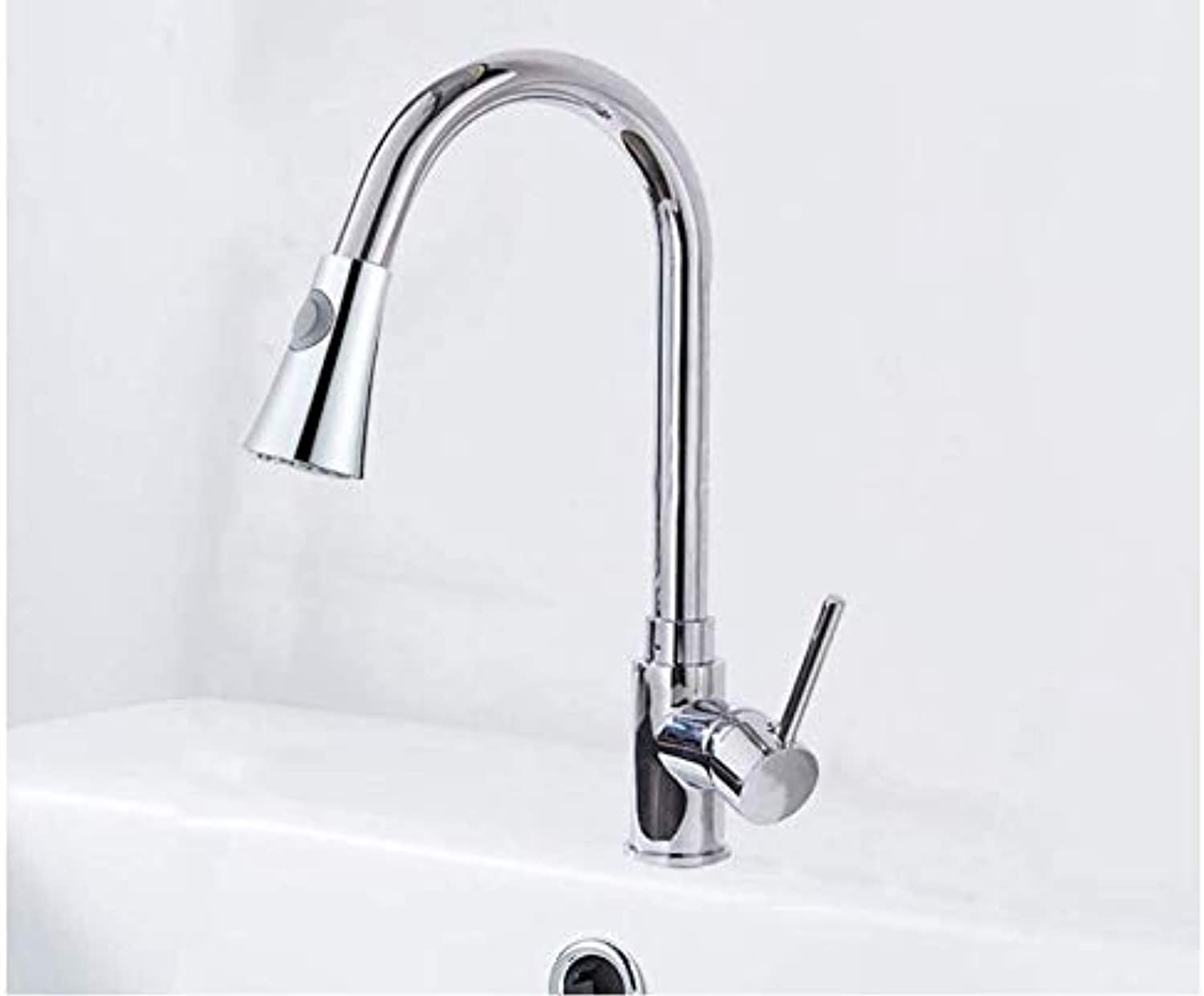 Water Tap Basin Sink Taps Kitchen Faucets Silver Single Handle Pull Out Kitchen Tap Single Hole Handle Swivel 360 Degree Water Mixer Tap Mixer Tap