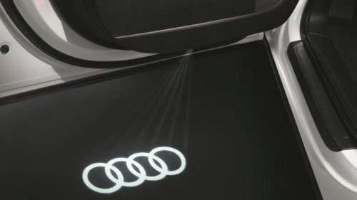 """Original Audi LED Einstiegsbeleuchtung \""""Audi Ringe\"""" mit schmalem Stecker"""