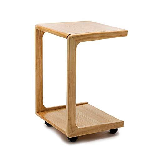 KXDLR Mobiele Sofa Zijtafel Einde Tafel Koffietafel op Wielen Woonkamer Hout Koffie Thee Snack Tafel Einde Tafel voor Slaapkamer Kleine Ruimte