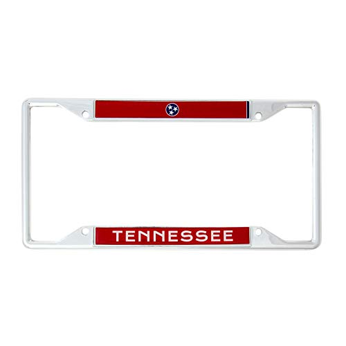 Desert Cactus State of Tennessee Flag License Plate Frame for Front Back of Car Vehicle Truck Tennessean