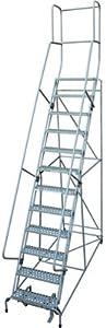 Cotterman Rolling Steel Ladder - 450-Lb. Capacity, 12-Step Ladder, 120in.H Platform, Model Number 1512R2632A1E20B4C1P3