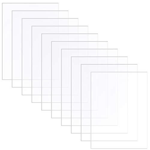 Xinstroe Acrylplatte, 10 PCS Acrylglas Transparentes Plexiglas Geschnittene klare Kunststoffplatte 2 mm Dicke Acrylplatte 178 x 127 mm