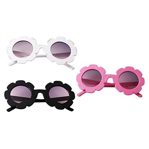 perfeclan Conjunto de 3 Gafas de Sol para niños Gafas de Aviador   Niños y niñas   Protección 100% UV 400 4-12 años