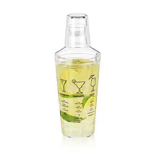 True Plastic Glass Recipe Alcohol Martini, 1 EA, Maraca Cocktail Shaker