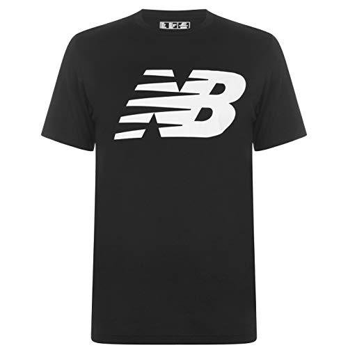 New Balance Camiseta de algodón con cuello redondo para hombre